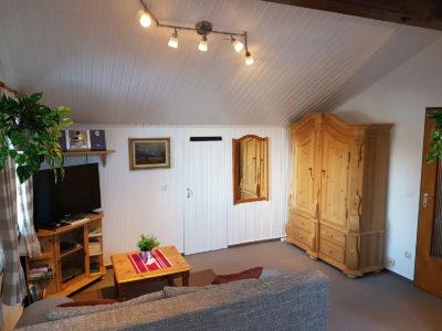 Ferienwohnung Mittenwald Karwendelherzen Wohnraum